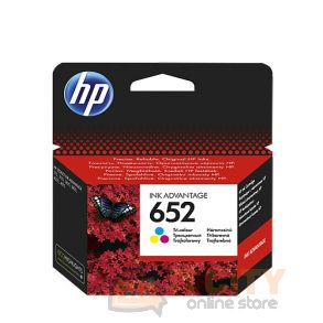 HP Ink 652T for Inkjet Printing 200 Page Yield - TriColor
