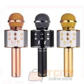 WS-858 Wireless Bluetooth Karaoke Microphone HIFi Speaker
