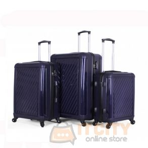 Giordano Hard Luggage 3 Piece Set - Navy