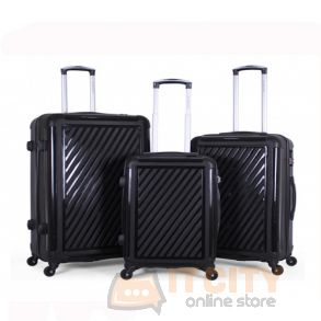 Giordano Hard Luggage 3 Piece Set - Black