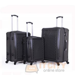 Giordano Hard Luggage 3 Piece Set - Grey
