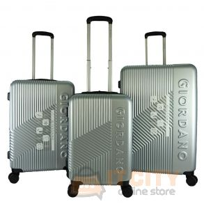 Giordano Ultra Strength Expendable ABS Hard Case Trolley GA9618 - Silver