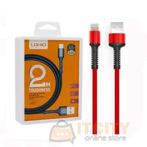LDNIO LS64 2M Toughness USB Cable 2.4A Fast Charging For IPhone