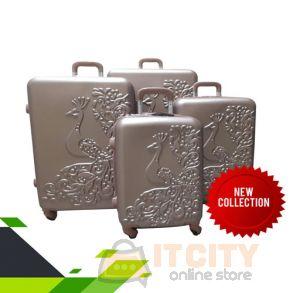 "Hard Luggage Travel Bag 4Pcs Set 20""-24""-28""-32""-Gold"