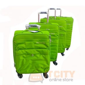 "President Soft Luggage Travel Bag 4Pcs Set Green - 20""-24""-28""-32"""