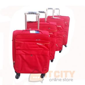 "President Soft Luggage Travel Bag 4Pcs Set Red - 20""-24""-28""-32"""