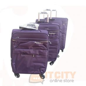 "President Soft Luggage Travel Bag 4Pcs Set Purple - 20""-24""-28""-32"""