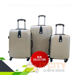 Hard Luggage Travel Bag 4Pcs Set Gold 20 24 28