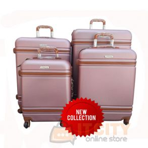 Corona Hard Trolly Travel Bags Set of 4 Pcs Pink