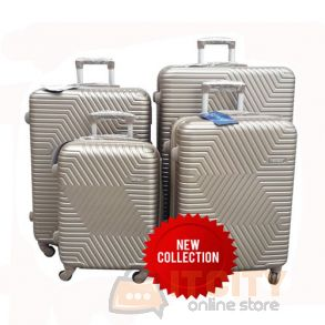 "Sumo Hard Luggage Travel Bag 4Pcs Set 20""-24""-28""-32"" - Silver"