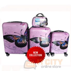 "Sumo Hard Luggage Travel Bag 4Pcs Set 12""-20""-24""-28"""