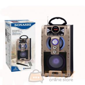 Sonashi Rechargable Bluetooth Speakers Gold SBS-707