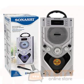 Sonashi Rechargable Bluetooth Speakers Silver SBS-708