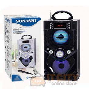 Sonashi Rechargable Bluetooth Speakers Black SBS-708