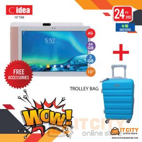 C-idea 64GB 10 Inch 4G Dual SIM Tablet with Travel Bag