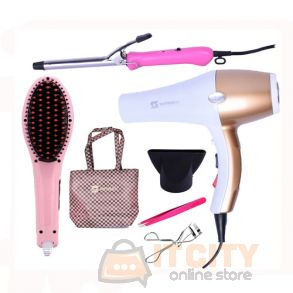 Sayona Bundle Of Hair Styler Hair Dryer Curler Hair Brush Accessories SY-9242