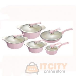 Sayona Cookware Set 10 Pieces Pink SYC-3007