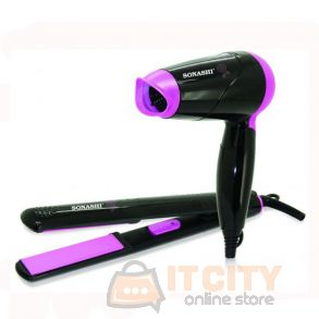 Sonashi Hair Straightener & Hair Dryer Set For Travel SBS-200