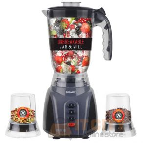 Sonashi 3 In 1 Blender Unbreakable Jar & Mill - SB-145