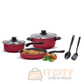 Magnum MG-008 Non-stick 7 Pcs. Cookware Set - Red