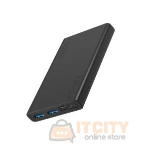 Promate 10000Mah  Compact Smart Charging PowerBank (Bolt-10) - Black