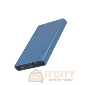 Promate 10000Mah  Compact Smart Charging PowerBank (Bolt-10) - Blue