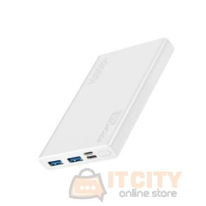 Promate 10000Mah  Compact Smart Charging PowerBank (Bolt-10) - White