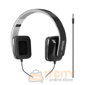 Promate  Foldable Over-The-Ear Wired Stereo Headset (Sonata) - Black
