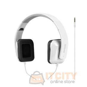 Promate Foldable Over-The-Ear Wired Stereo Headset (Sonata) - white