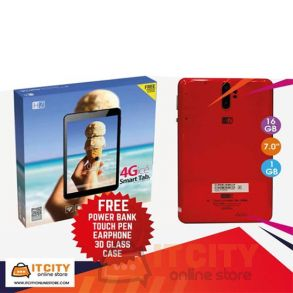 Heatz Dual sim 16GB WIFI 4G LTE Tablet - Red