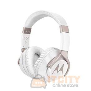 Motorola Pulse 200 Bass Hedphone With Mic Compatible Alexa - White