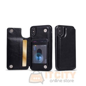 Elbo Leather Cover With wallet Slot For Iphone XS 5.8Inch