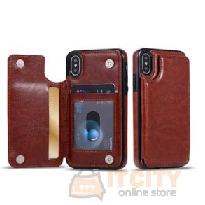 Elbo Leather Cover With wallet Slot For Iphone XS Max 6.5 Inch