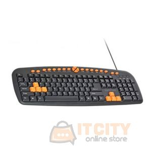 Promate Easykey-2 Wired Gaming Keyboard - Black