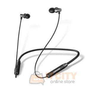 Lenovo HE05 Bluetooth 5.0 Magnetic Neckband Earphones Sport Earbuds - Black