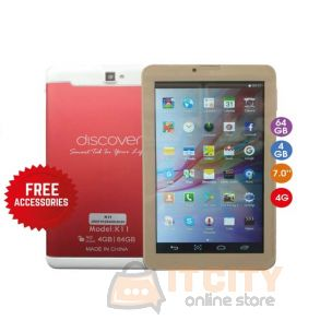 Discover k11 64GB 4GB 7 inch Android Tablet - Red