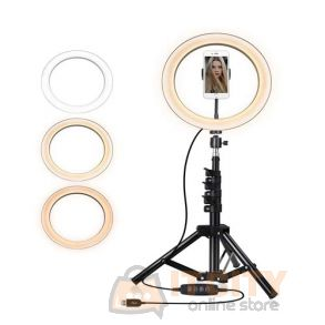 Wonem 10 Inch Selfie Ring Light With Tripod Stand
