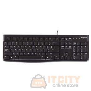 Logitech K120 Desktop Wired Keyboard, USB - Black