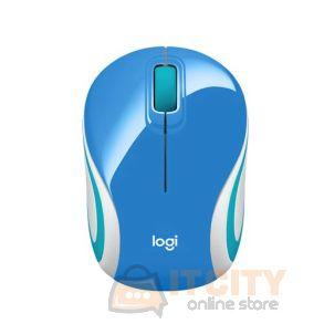 Logitech M187 Ultra Portable Wireless Mouse(Blue/White)