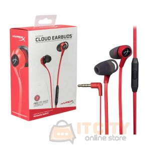 HyperX Cloud Earbuds Gaming Headphones with Mic for Nintendo Switch and Mobile Gaming (HX-HSCEB-RD)