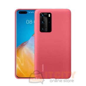 Huawei P40 Pro Silicone Case - Berry Red