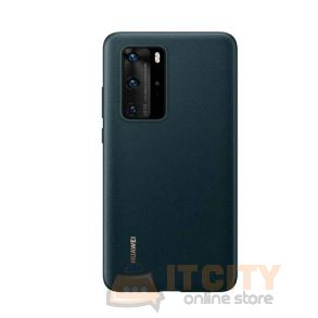 Huawei P40 Pro Leather Back Case - Green