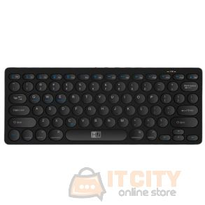 HeatZ ZK07 2.4GHZ Ultra Slim English &  Arabic Bluetooth Keyboard - Black