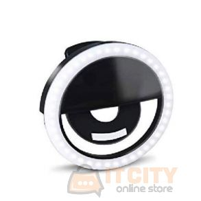 Trands (TR-LT680) Rechargeable Selfie Ring Light - Black