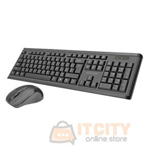 Promate Procombo-5 Wireless PC Keyboard & Mouse - Black