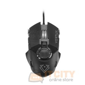 Vertux Cobalt High Accuracy Lag-Free Wired Gaming Mouse - Black