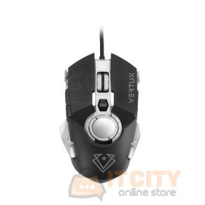 Vertux Cobalt High Accuracy Lag-Free Wired Gaming Mouse - Grey