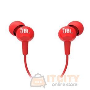 JBL C100SI in-Ear Headphones with Mic - Red