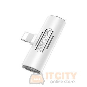 Borofone BV7 Apple Digital 3.5 Audio & Charging Converter - White