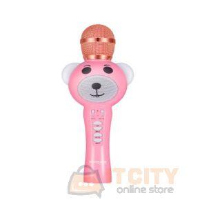 Promate RockStar-2 Wireless Karaoke Microphone - Pink